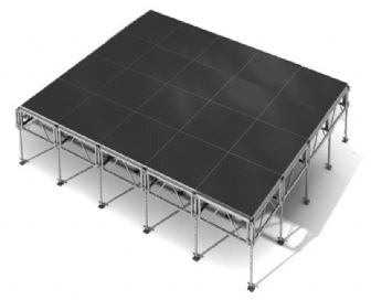All  Terrain 20 Sq Mtr 4 M x 5 M - All Terrain Weather Resistent stage - Height adjustable from 60cm to 120cm | Portable Staging | ALL TERRAIN - Weather Proof Staging | All  Terrain Portable Staging | Lighthouse Audiovisual UK